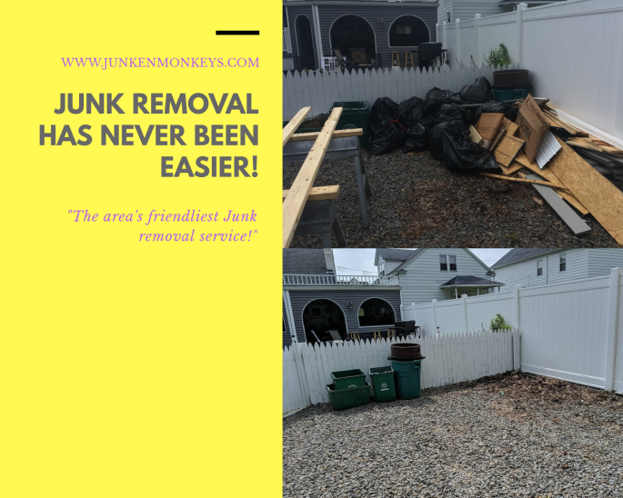 trash pickup, junk removal, junken monkeys scranton pa